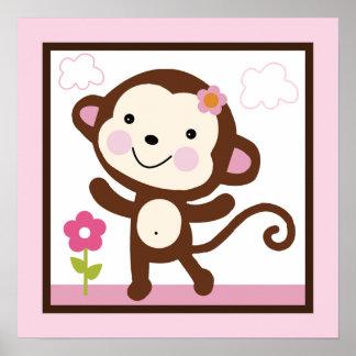Jungle/Monkey Girl Poster/Print Wall Art