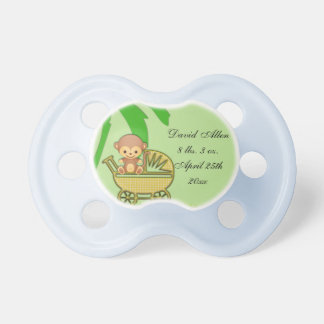 Jungle Monkey In Baby Carriage Baby Shower BooginHead Pacifier