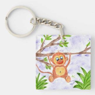 Jungle monkey key chain