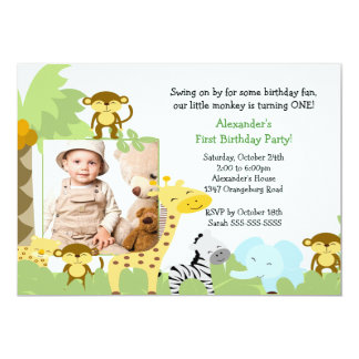 Jungle Birthday Invitations Announcements Zazzle