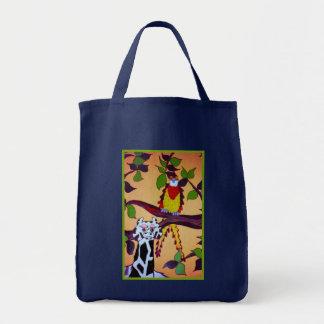 Jungle Mural Tote Grocery Tote Bag