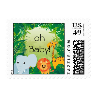 Jungle Nursery Baby Animals Postage