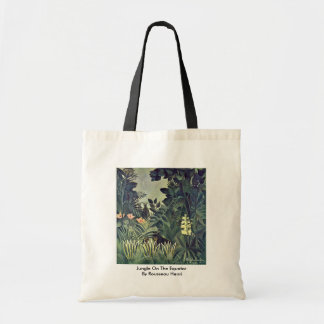 Jungle On The Equator By Rousseau Henri Canvas Bag