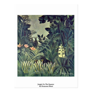 Jungle On The Equator By Rousseau Henri Postcard