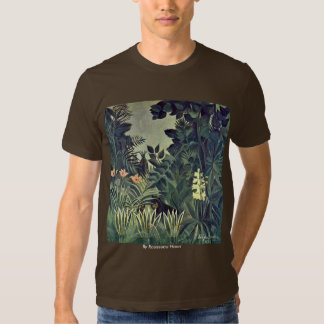 Jungle On The Equator By Rousseau Henri T Shirt