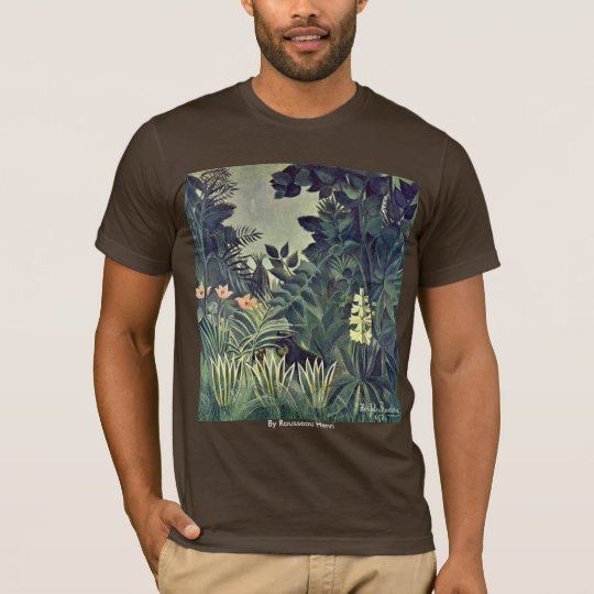 Jungle On The Equator By Rousseau Henri T-Shirt