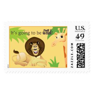 jungle or safari stamp
