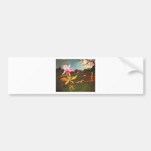 Jungle Orchid Bumper Sticker