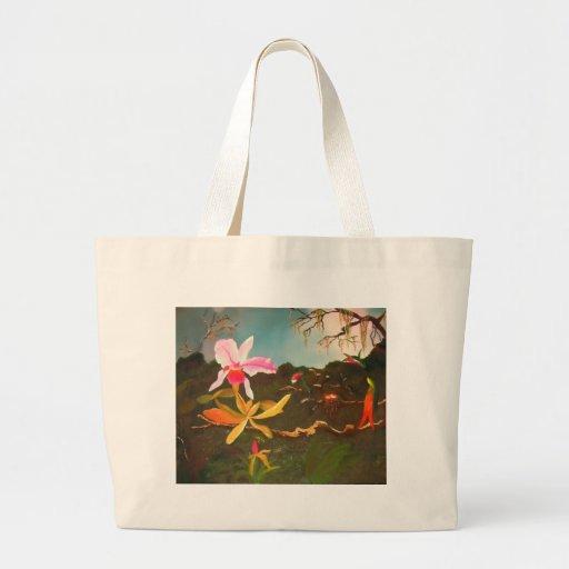 Jungle Orchid Canvas Bag