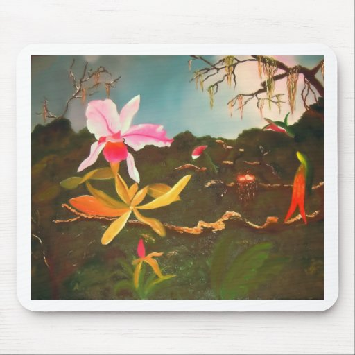 Jungle Orchid Mouse Pad