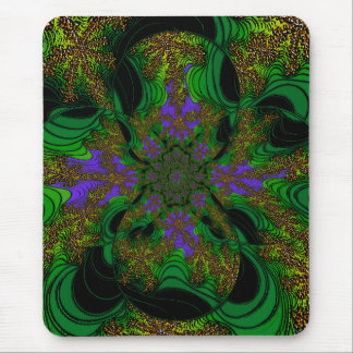 """""""Jungle Orchids"""" ~ Abstract Art Print Mouse Pad"""