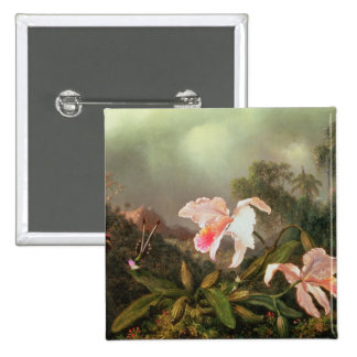Jungle orchids and hummingbirds, 1872 pin