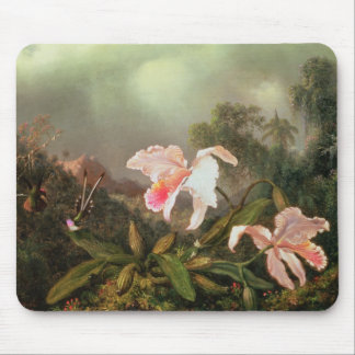 Jungle orchids and hummingbirds, 1872 mouse pads