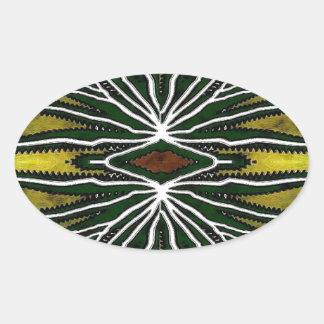 Jungle Oval Sticker