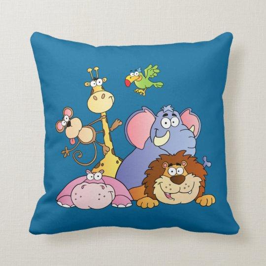 Jungle Pals Throw Pillow