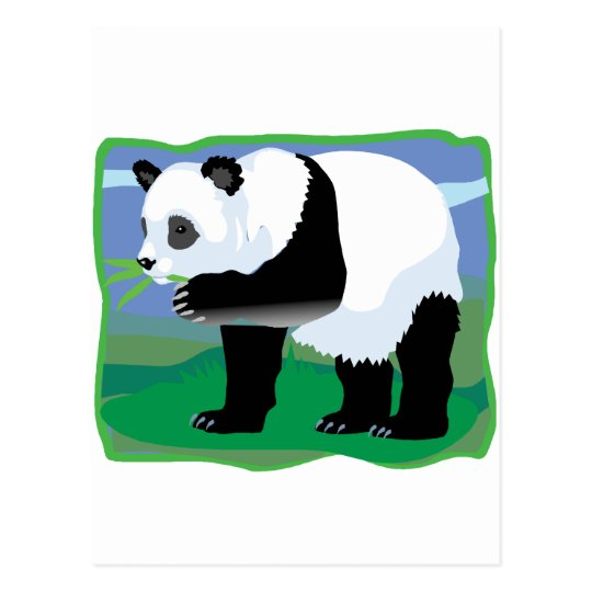 Jungle Panda Bear Postcard
