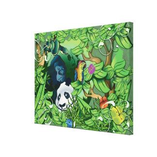 Jungle Panda Canvas Prints