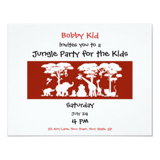 Jungle Party for Parents & Kids Card