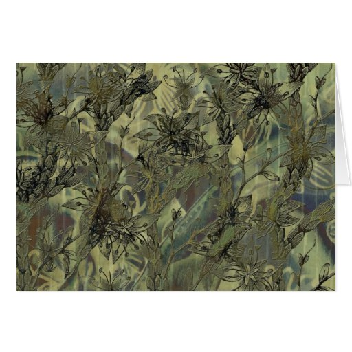Jungle Plants Greeting Card Cards