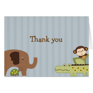 Jungle Play Jungle Animal Thank You Note Cards