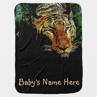 jungle predator wildlife safari animal wild tiger baby blanket