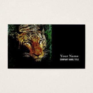 jungle predator wildlife safari animal wild tiger business card