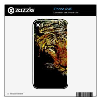 jungle predator wildlife safari animal wild tiger iPhone 4S decal