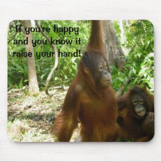 Jungle Primate Animal Happy Nursery Rhyme Mouse Pad
