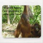 Jungle Primate Animal Happy Nursery Rhyme Mousepad