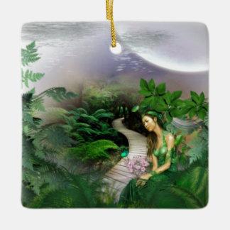 Jungle Reflection Ceramic Ornament