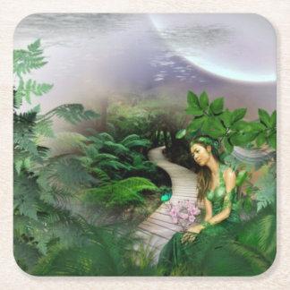 Jungle Reflection Square Paper Coaster