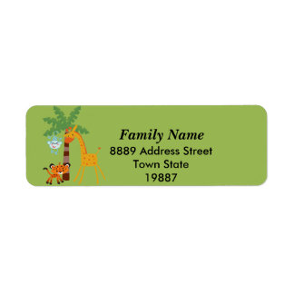 Jungle return Address Sticker Label