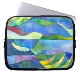 Jungle River Abstract Laptop Bag Laptop Sleeve
