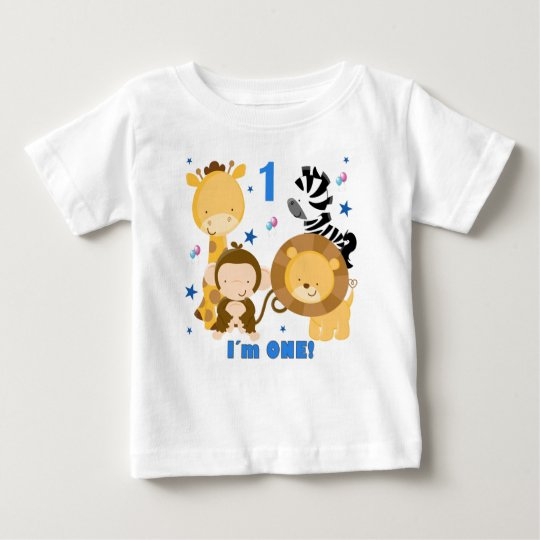 Jungle Safari 1st Birthday T Shirt