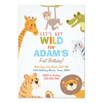 Jungle Safari Animal Birthday Party Invitation