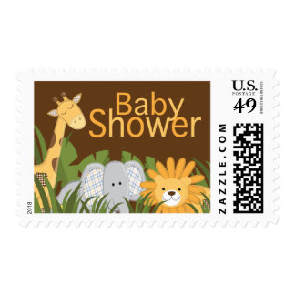 Jungle Safari Animal Neutral Baby Shower Postage
