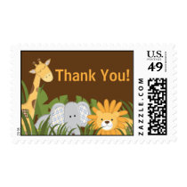 Jungle Safari Animal Neutral Baby Shower Postage