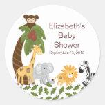 Jungle Safari Animal Neutral Baby Shower Stickers