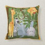 Jungle Safari Animals Kids Room Pillow Pillow