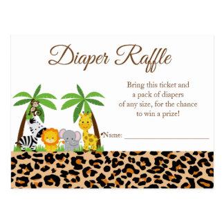 Jungle Safari Baby Shower Diaper Raffle Card
