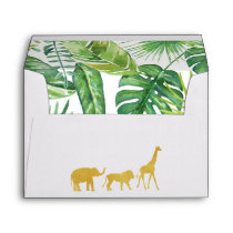 Jungle Safari Baby Shower Envelopes