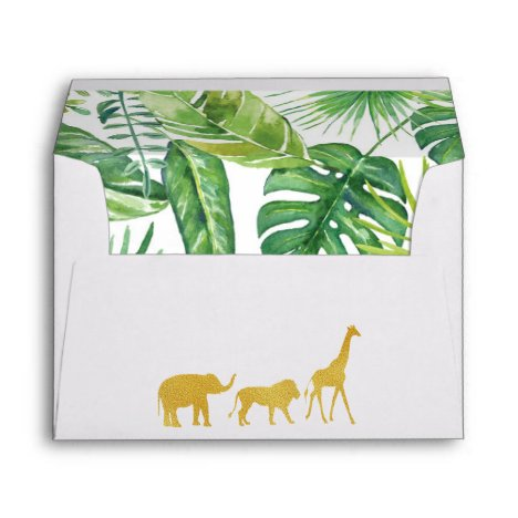 Jungle Safari Baby Shower Envelopes