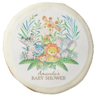 Jungle Safari Baby Shower Favor Cookie