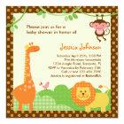 Jungle Safari Baby Shower Invitation