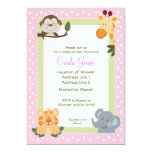 Jungle Safari Baby Shower Invitations 5 x 7 size