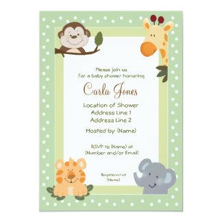 Jungle Safari Baby Shower Invitations 5 x 7 size