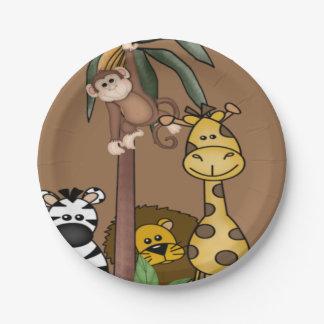 Jungle Safari Baby Shower Paper Plates