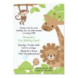 Jungle Safari Birthday Invitation