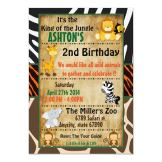 Jungle Safari Birthday Party Card