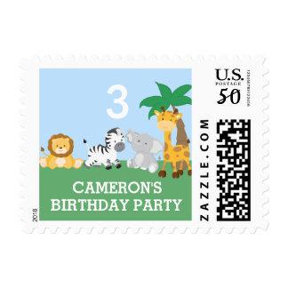 Jungle Safari Birthday Stamp